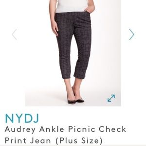 NYDJ Audrey Ankle Picnic Check Print Jeans